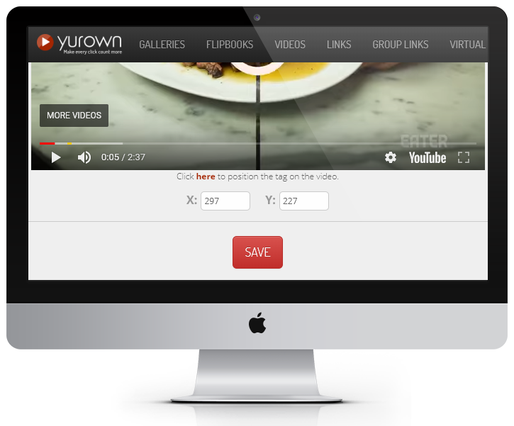 Yurown Videos Key Features - Position